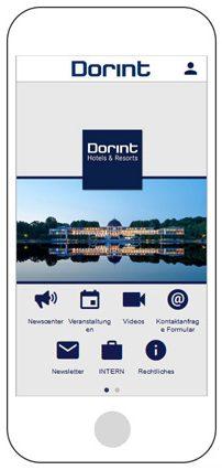 Startbildschirm der neuen Dorint App