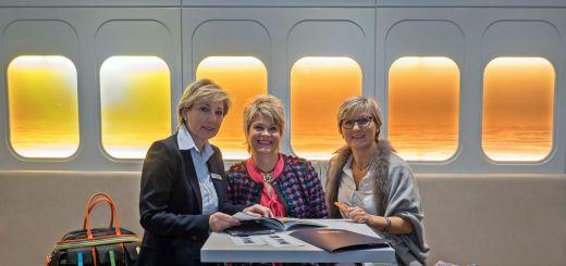 Dagmar Lennartz, Direktorin des Dorint Airport-Hotel Stuttgart und die Mitinitiatorinnen der 1. Ladies Connection, Dagmar Nennemann und Ilona Koch (v.l.n.r.)