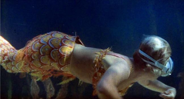 Doris Day wears mermaid costume in The Glass Bottom Boat