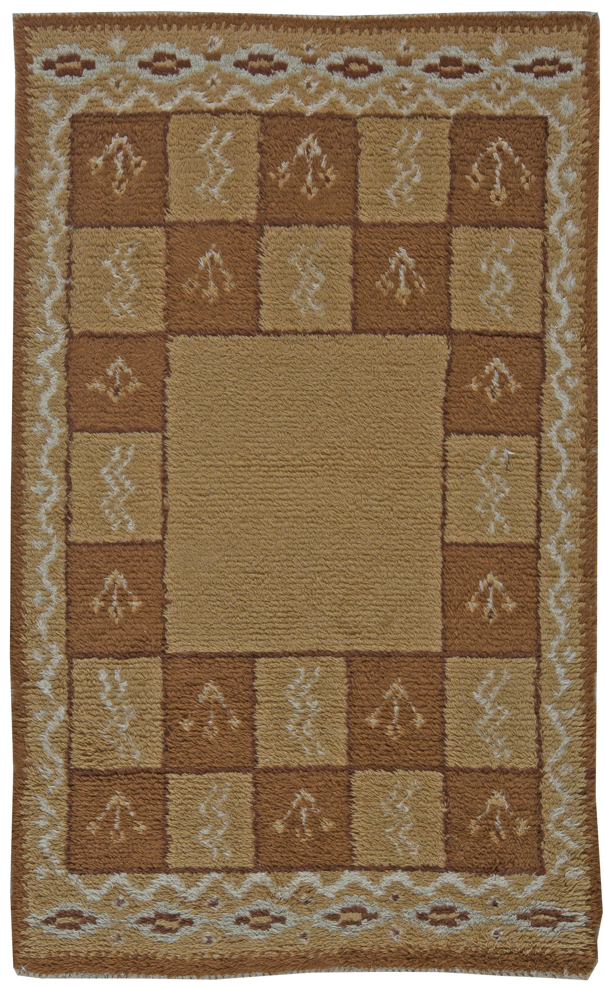 Vintage Swedish Pile Rug Bb5855 Antiques