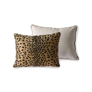 CUSHION FLOCK PRINT PANTHER // pre-order February