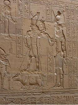 Das Speeren der Nilpferd-Göttin in Edfu.
