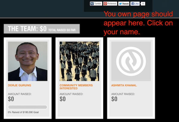 4. crowdrise bottom of personal fundraising page