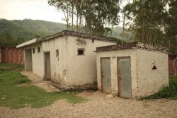 The first set of bathrooms. When I went to inspect the inside of the far one, no sooner had I pushed the door open, I ran away as fast as I could pinching my nose in disgust! The stench emanating from the room was overwhelming!