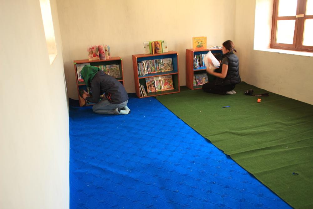 Saat Kanya school library.