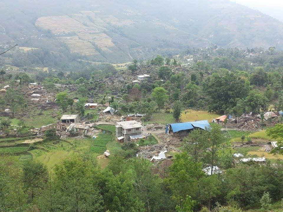 Thangpalkot after the quake.