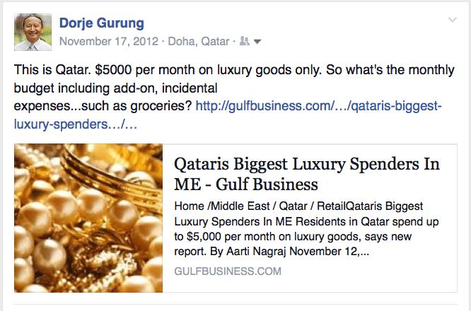 $5000:month on luxury goods