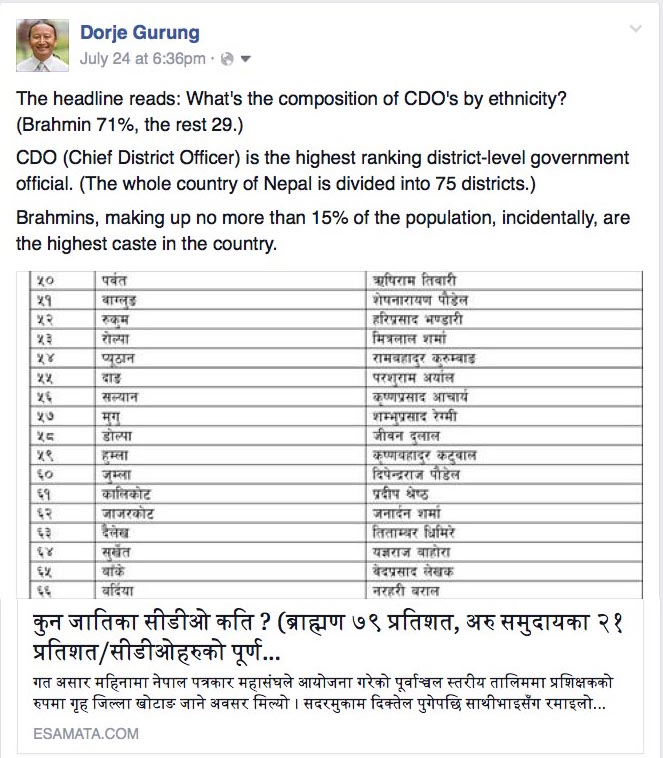 CDO by ethnicity