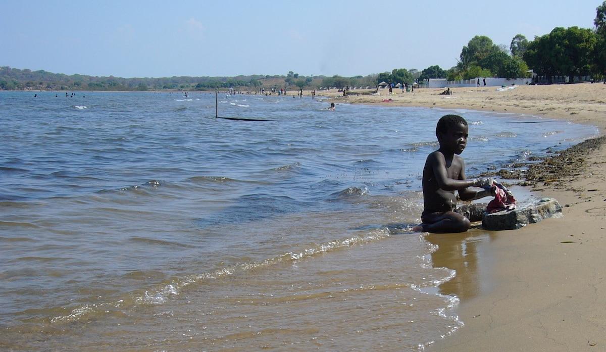 boy on Senga Bay