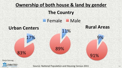 land & house ownership by gender