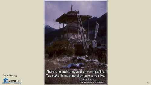 …For a Meaningful Life