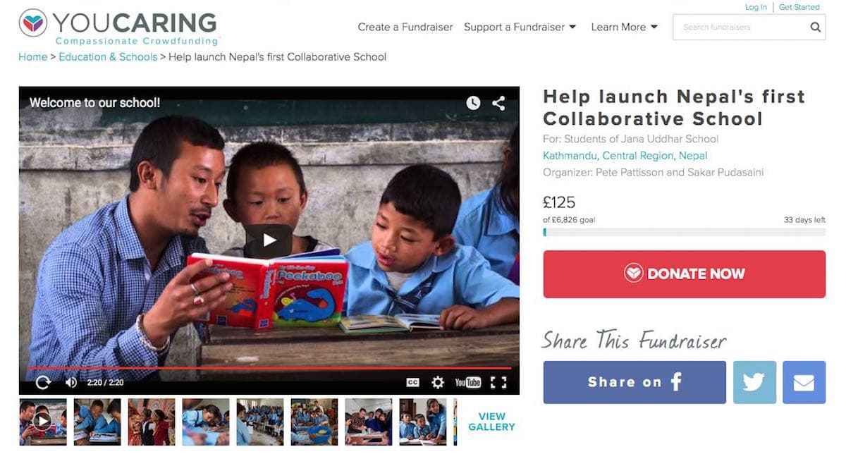 help launch Nepal's first collaborative school