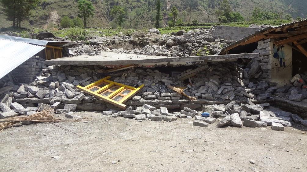 Post Quake - Kumveshwori school library