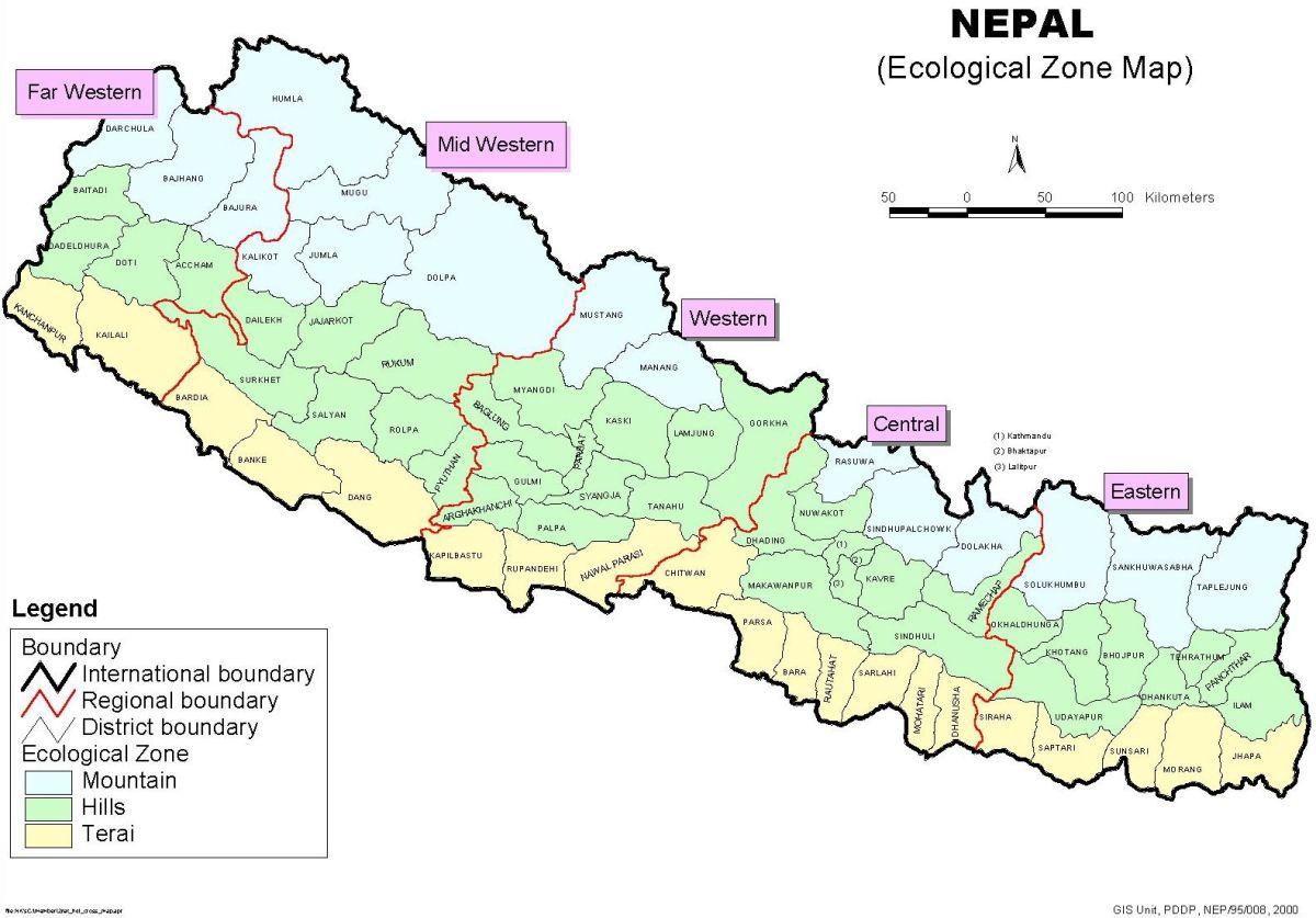 Development and eco-development regions of Nepal