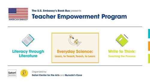 The US Embassy's Book Bus: Science Teacher Training