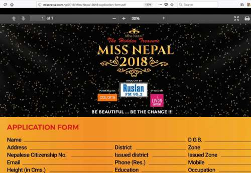 "Miss Nepal: ""Be Beautiful…Be The Change"""