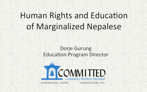 Human Rights and Education of Marginalized Nepalese