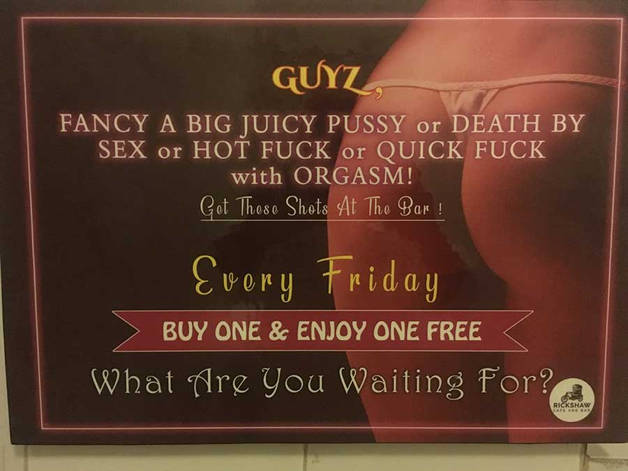 sexist mixed-drink promotional material