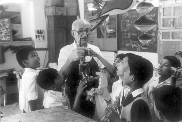 Bro. Bruno Karpinsky and students