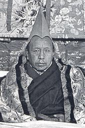 Ngawang Sungrab Thutob (1874-1952), IIe incarnation de Tagtrag © Western Shugden Society