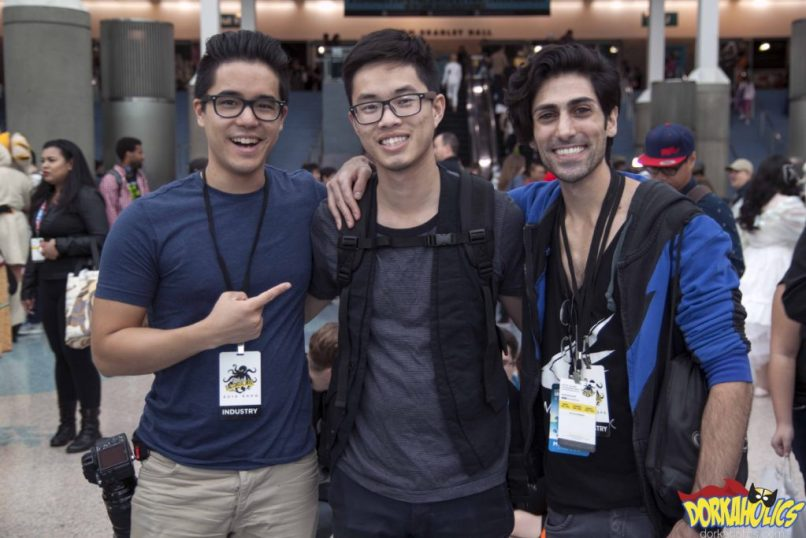 ismahawk's Jeremy Le and Danny Shepherd take a picture with a longtime fan. Photo by Chris Im.