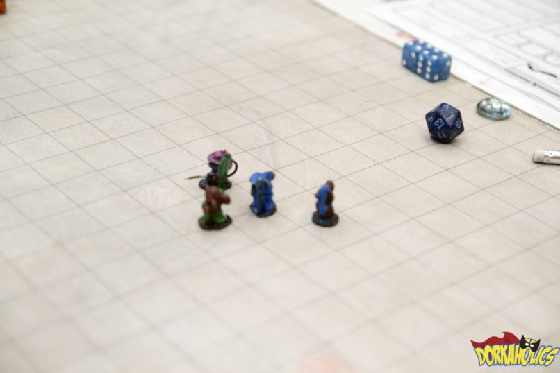 A look at the table from a game of Dungeons and Dragons. Photo by Neil Bui.