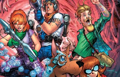"""Scooby-Do and the gang on the cover of """"Scooby Apocalypse"""" #1. Photo courtesy of DC Comics."""