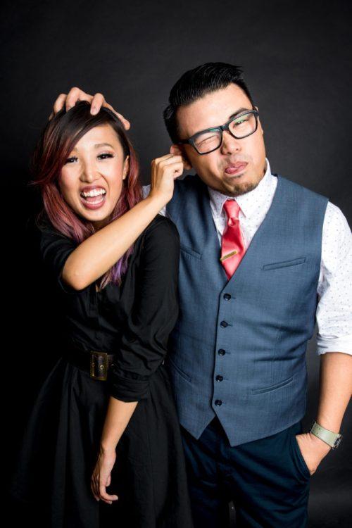 Dominique Zamora with her partner Justin Element of CineCosu Studios.