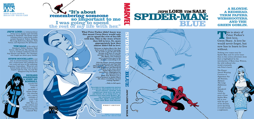 Read about Spider-Man's Valentine in Blue.