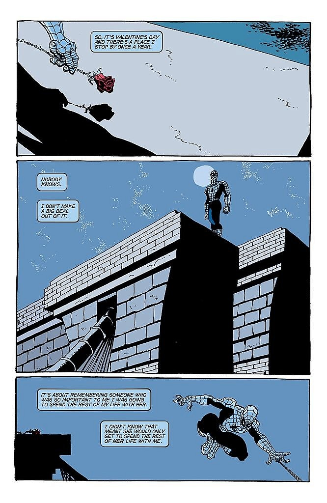 Sample page for Spider-Man: Blue.