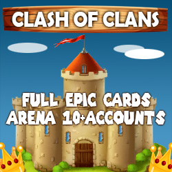 Clash of Clans Full Epic Cards Arena 10+ Accounts