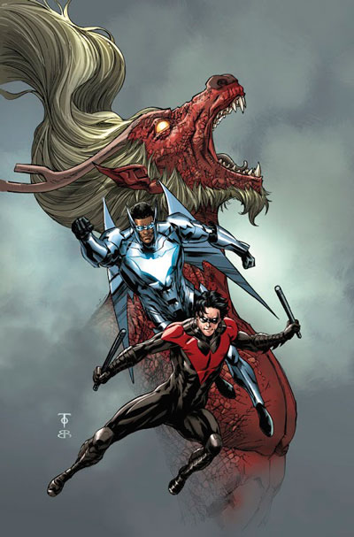 Batwing #11 Cover Pencils by To, Colours by Brian Reber. Photo: DC Comics