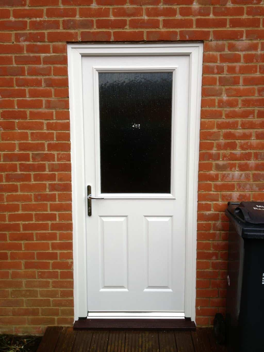 White composite back door  Dorking Glass