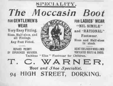 T.C Warner Moccasin Boot Advert 1913