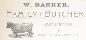 W. Barker Butchers Advert