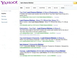 Top Chef: Last Chance Kitchen Bing Yahoo Search