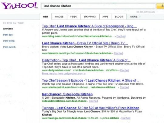 Top Chef: Last Chance Kitchen Bing Yahoo Search