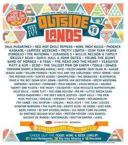 Outside Lands Festival 2013 Lineup