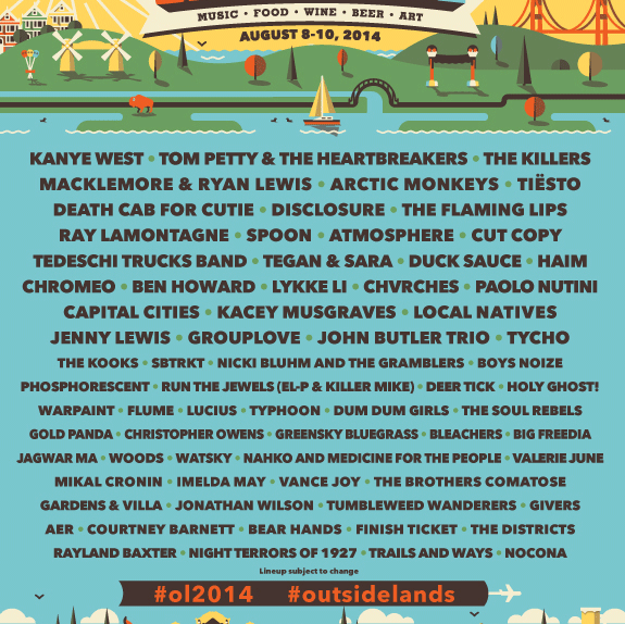 Outside Lands Festival 2014 Poster