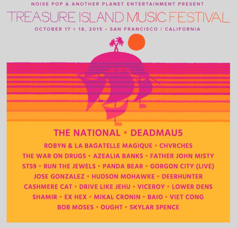 Treasure Island Music Festival 2015 Lineup