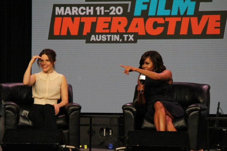 First Lady Michelle Obama and Sophia Bust at SXSW 2016