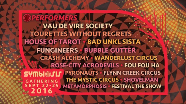 Symbiosis Gathering 2016: Family Tree - Performance Lineup