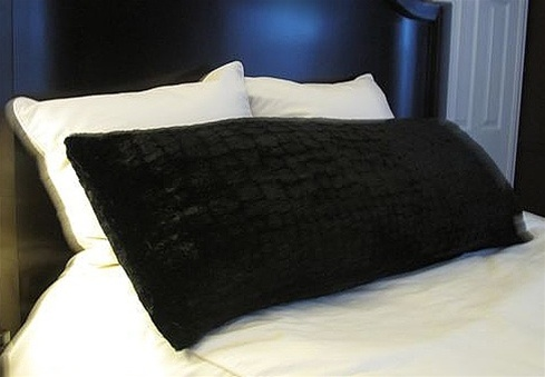College Plush Body Pillow  Black extra soft and cushioned