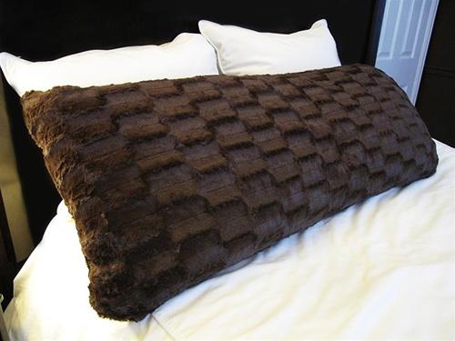 College Plush Body Pillow Espresso Brown College bedding stuff