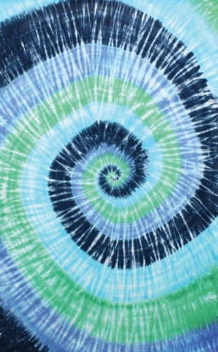 Blue Spiral Tiedye Tapestry Dorm Decoration Display