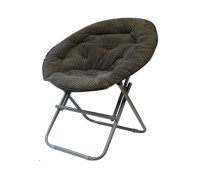 Dorm Seating - Comfy Corduroy Moon Chair - Sage Gray ...