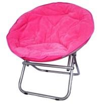 Comfy Corduroy Moon Chair - Neon Candy Pink College Dorm ...