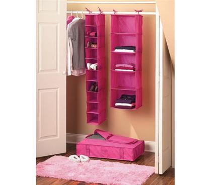 College Closet Set Pink Dorm Room Organizer College
