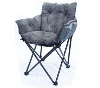 College Cushion Chair - Ultra Plush Dark Gray