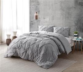Alloy Pin Tuck Twin Xl Comforter Bedding Dorm